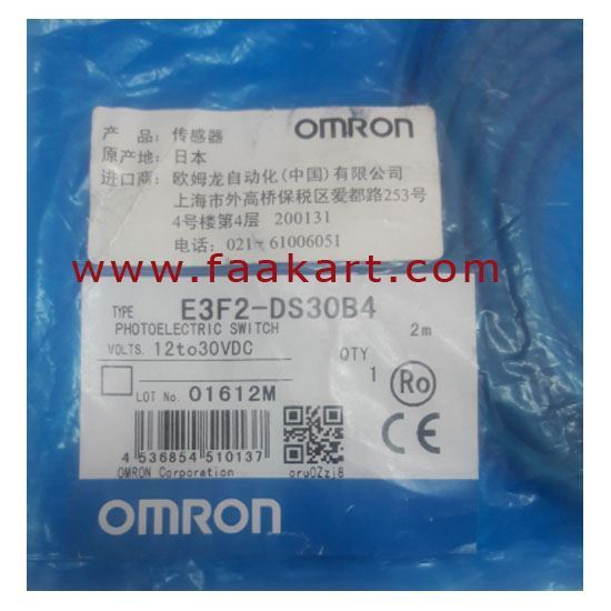 Picture of E3F2 DS30B4  Omron  Photoelectric Sensor