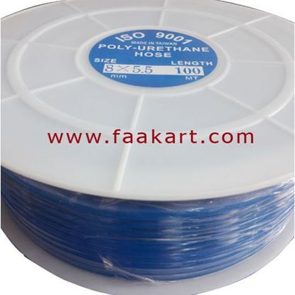 Picture of PU Tube 8X5.5mm-100Mtr Roll - Blue Colour