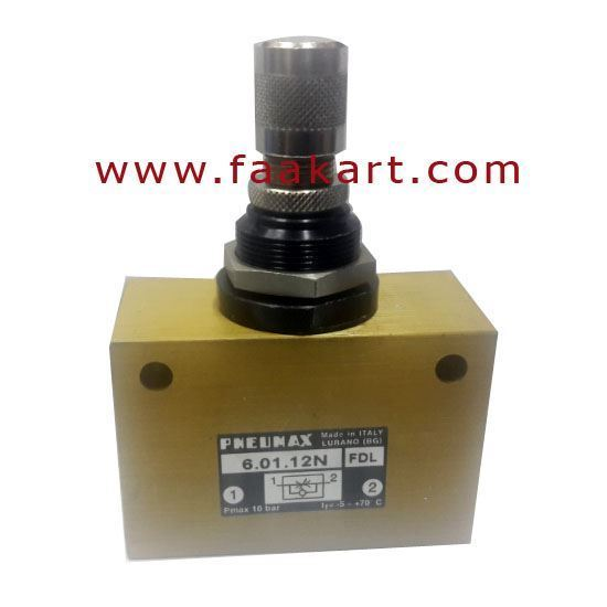 "Picture of Flow Control Valve 6.01.12N FDL PNEUMAX - G1/2"" Port"