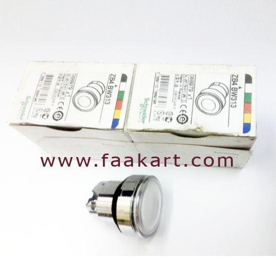Picture of ZB4BW313 White Flush Illuminated Push Button Head