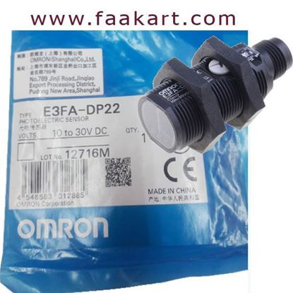 Picture of E3FA-DP22 - Omron Diffuse Photoelectric Sensor