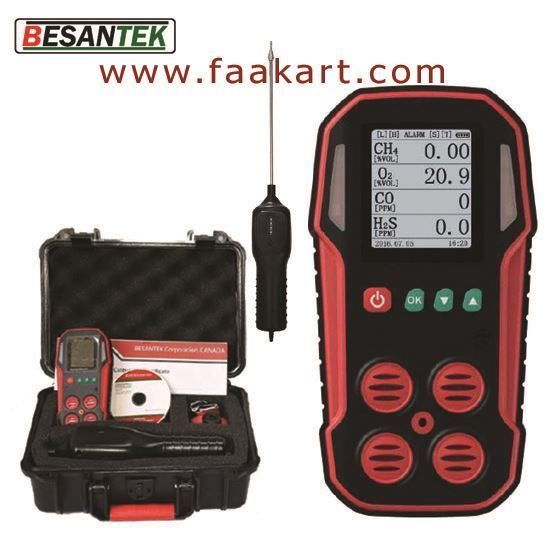 Picture of BST-MG08: Multi-Gas Detector DataLogger with Air Pump