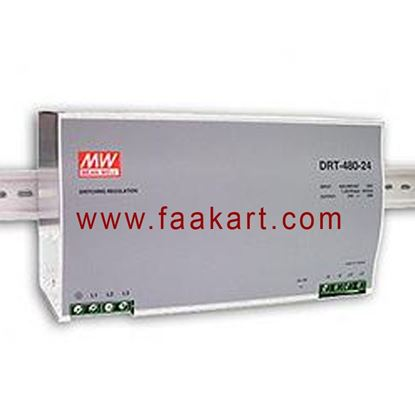 Picture of DRT-480-24 - Mean Well DIN rail Power Supply