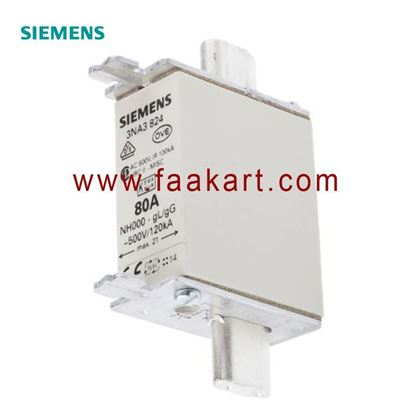 Picture of 3NA3824  Siemens 80A 000 NH Centred Tag Fuse