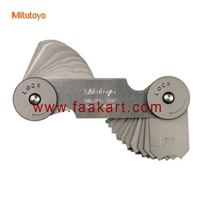 Picture of 186-902 Mitutoyo  Radius Gage Set, 26 Leaves, 0.5mm