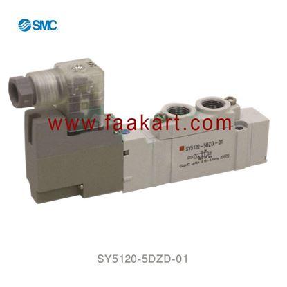 Picture of SY5120-5DZD-01 SMC 5/2 Single Solenoid Valve