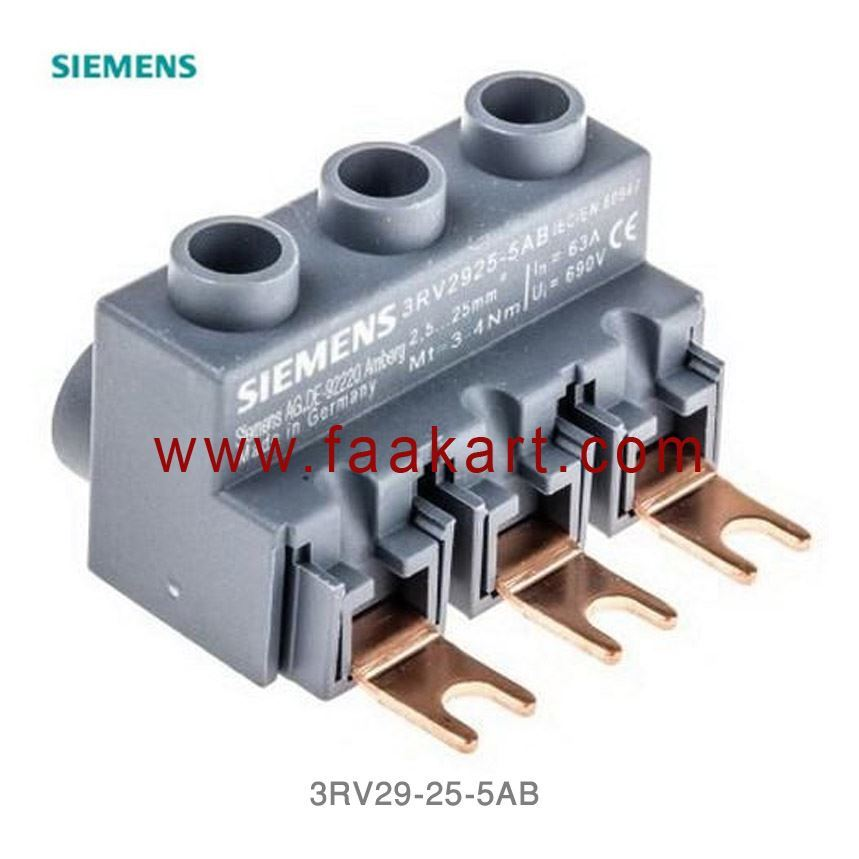 3RV29255AB - Siemens 3-phase supply terminal for 3-phase
