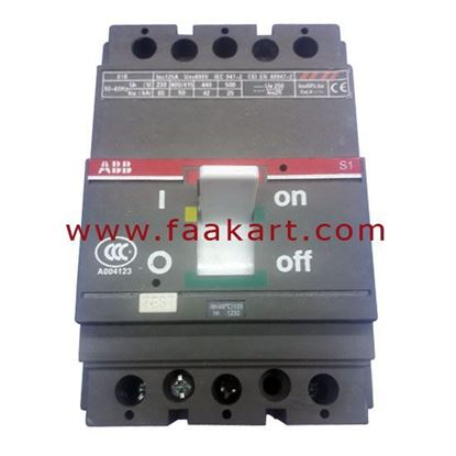 Picture of MCCB 125A  230V 3P ABB 1SDA000468R1 R125 Circuit Breaker
