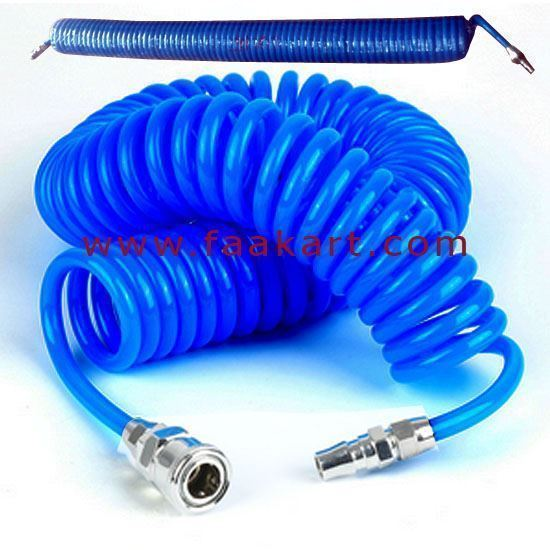 Picture of Pneumatic Spiral Coil Tube 12MM X 5MTR Blue Colour