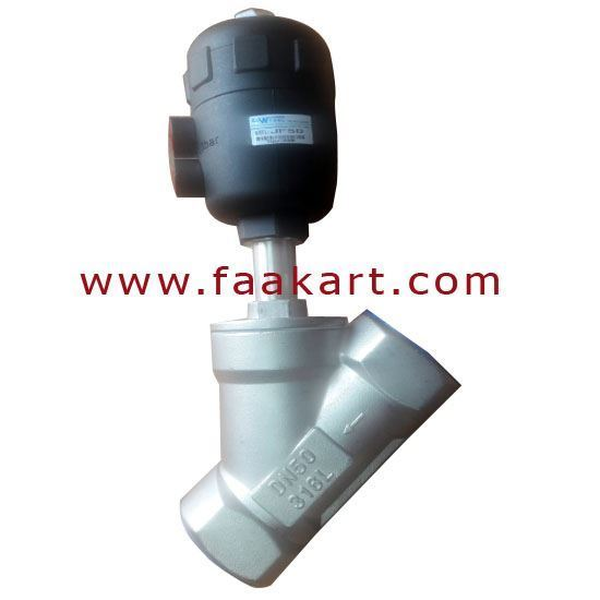 """Picture of Angle Set Valve 2"""" Size JF25 Stainless Steel  DN50"""