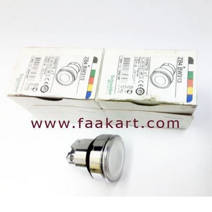 Picture of ZB4BW313 White Flush Illuminated Push Button Head