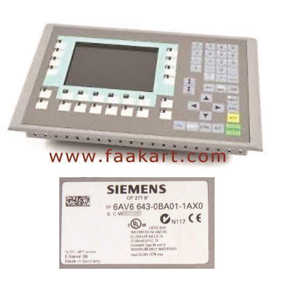Picture of 6AV6643-0BA01-1AX0  Siemens Operator Panel