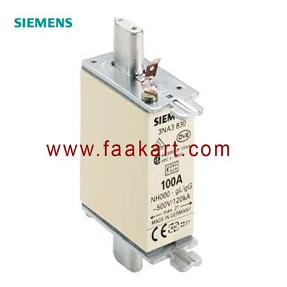 Picture of 3NA3830 Siemens - 100A 000 NH Centred Tag Fuse