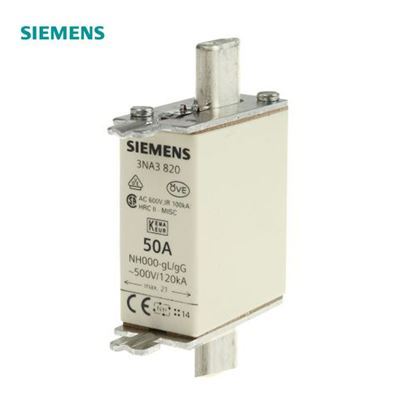 Picture of 3NA3820  Siemens 50A 000 NH Centred Tag Fuse