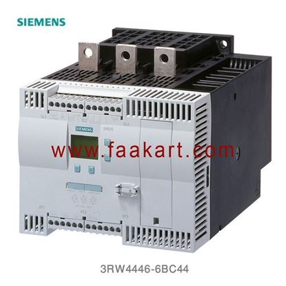 Picture of 3RW4446-6BC44 SIRIUS soft starter 400 V, 40 °C Standard: 356 A, 200 kW