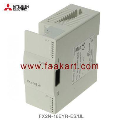Picture of FX2N-16EYR-ES/UL Mitsubishi FX2N Series PLC I/O Module 16