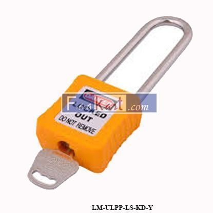 Picture of LM-ULPP-LS-KD-Y, Safety Lockout Padlock Keyed Different Long Shackle Yellow Color