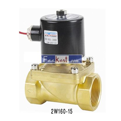 "Picture of 2W160-15 AC220V-1/2"", 2Way Solenoid Valve, NC, Air,Water,Oil,Gas"