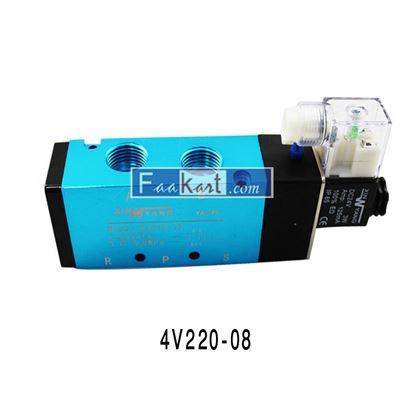 "Picture of 4V220-08 AC220V-1/4"", Solenoid Valve for Air,"