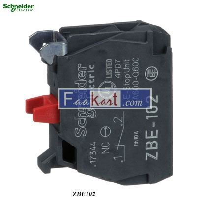 Picture of ZBE102 Harmony, 22mm Push Button, add on contact block