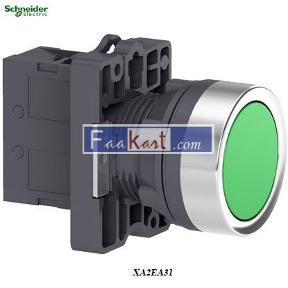 Picture of XA2EA31  Round Green push-button