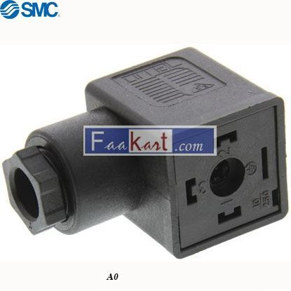 Picture of A0  SMC Solenoid Valve DIN Plug Connector
