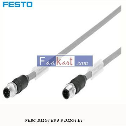 Picture of NEBC-D12G4-ES-5-S-D12G4-ET  FESTO  4 Pin D-coded Cable
