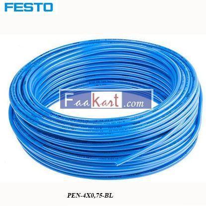 Picture of PEN-4X0,75-BL  Festo Air Hose Blue