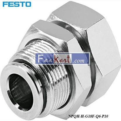 Picture of NPQH-H-G18F-Q6-P10  Festo Pneumatic Bulkhead