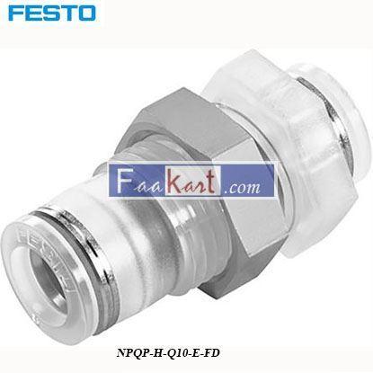 Picture of NPQP-H-Q10-E-FD  Festo Pneumatic Bulkhead