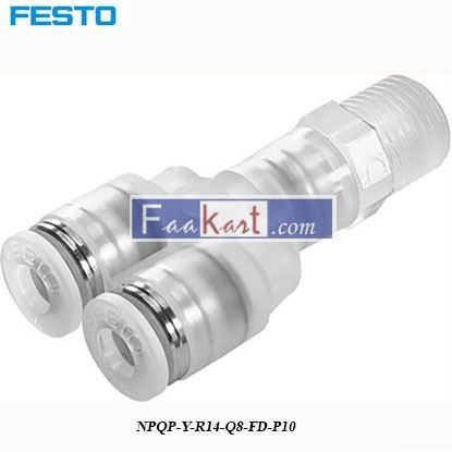 Picture of NPQP-Y-R14-Q8-FD-P10  Festo Pneumatic Double Y Threaded