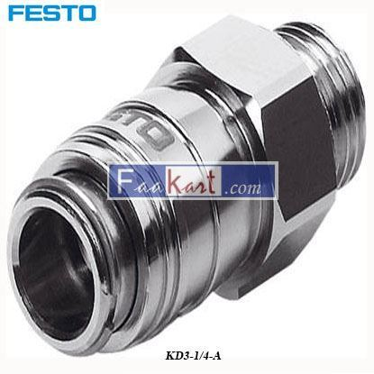 Picture of KD3-1 4-A  Festo Pneumatic Quick Connect Coupling Brass