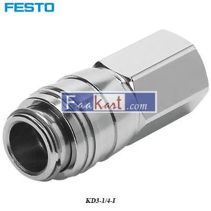 Picture of KD3-1 4-I  Festo Pneumatic Quick Connect Coupling Brass