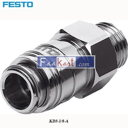 Picture of KD3-1 8-A  Festo Pneumatic Quick Connect Coupling Brass