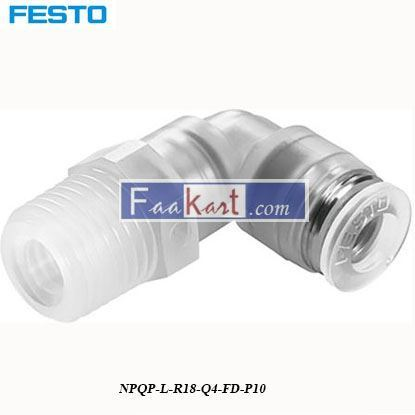 Picture of NPQP-L-R18-Q4-FD-P10  Festo Pneumatic Tee Tube Adapter