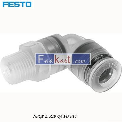 Picture of NPQP-L-R18-Q6-FD-P10  Festo Pneumatic Tee Tube Adapter