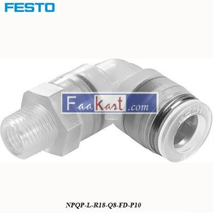 Picture of NPQP-L-R18-Q8-FD-P10  Festo Pneumatic Tee Tube Adapter