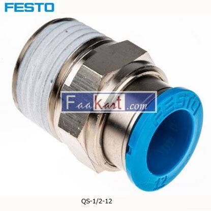 Picture of QS-1 2-12  Festo Threaded-to-Tube Pneumatic Fitting