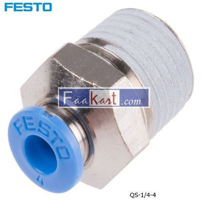 Picture of QS-1 4-4  Festo Threaded-to-Tube Pneumatic Fitting