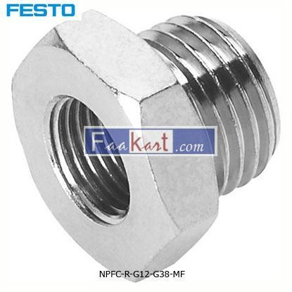 Picture of NPFC-R-G12-G38-MF  Pneumatic Straight Threaded Adapter