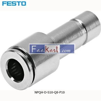 Picture of NPQH-D-S10-Q8-P10  Festo NPQH Straight Union